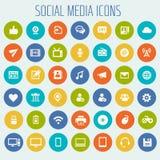 Medios sistema social grande del icono stock de ilustración