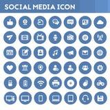 Medios sistema social grande del icono ilustración del vector