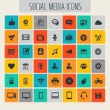 Medios sistema social grande del icono libre illustration