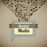 Medios sociales ilustración del vector