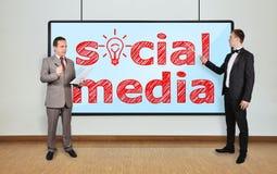 Medios sociales Foto de archivo