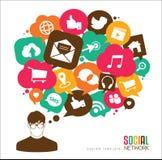 Medios sociales Fotografía de archivo libre de regalías