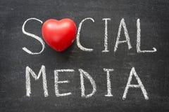 Medios sociales Imagen de archivo libre de regalías