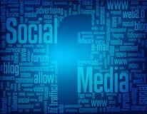 Medios sociales  Imágenes de archivo libres de regalías
