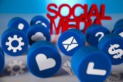 Medios sociales, fondo Imagen de archivo libre de regalías