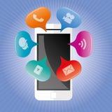 Medios sociales móviles Foto de archivo libre de regalías