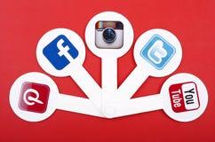 Medios sociales populares Imagen de archivo libre de regalías