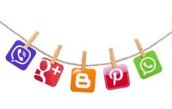 Medios sociales populares Foto de archivo libre de regalías