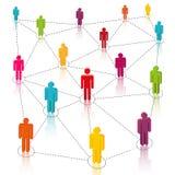 Medios sociales, red stock de ilustración