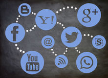 Medios tablero social fotografía de archivo libre de regalías