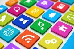 Medios teclado social Imagen de archivo libre de regalías