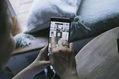 Medios uso social Imagen de archivo libre de regalías