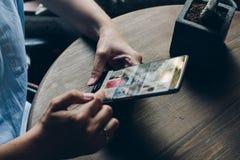 Medios uso social Imagenes de archivo