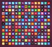 Medios vector fijado iconos sociales libre illustration