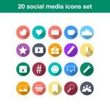 Medios vector social de los iconos Imagenes de archivo