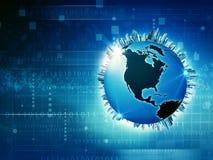 Medios y sociedad de la información globales ilustración del vector