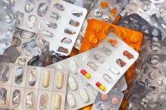 Medisch Afval en Huisvuil stock afbeeldingen