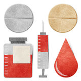 Medisch & gezondheidszorgmarkering gerecycleerde document ambacht. Stock Afbeelding
