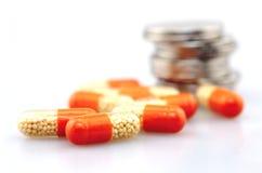 Medisch concept, druggeneeskunde stock afbeeldingen