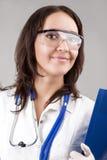 Medisch Concept: Kaukasische Medische Vrouwelijke Arts With Stethoscop stock afbeelding