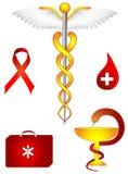 Medisch en farmacologisch teken royalty-vrije illustratie
