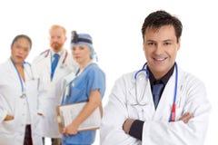 Medisch het personeelsteam van het ziekenhuis stock foto's
