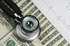 Medisch hulpmiddelen en geld stock foto's