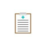 Medisch klembord stevig pictogram, medische vorm Royalty-vrije Stock Foto