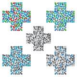 Medisch kruis Het vectormalplaatje van het embleemontwerp Geneeskunde, gezondheidszorg Royalty-vrije Stock Afbeelding