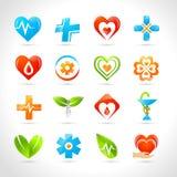 Medisch Logo Icons Royalty-vrije Stock Fotografie