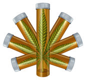 Medisch Marihuanaconcept royalty-vrije illustratie