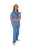 Medisch Personeel dat op Wit wordt geïsoleerd. Stock Afbeeldingen