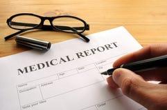 Medisch rapport Stock Afbeelding