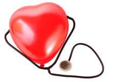 Medisch stethoscoop en ballonhart Stock Afbeeldingen