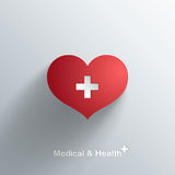 In Medisch Symbool stock illustratie