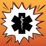 Medisch symbool van de Noodsituatie of de Ster van het Leven Vector comics vector illustratie