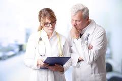 Medisch team bij het ziekenhuis Royalty-vrije Stock Foto's