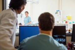 Medisch Team In-CT Aftastenlaboratorium Royalty-vrije Stock Foto