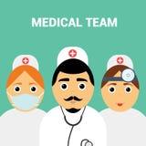 Medisch team Modern vlak ontwerp Stock Foto's