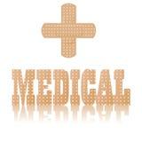 Medisch tekst en symbool Royalty-vrije Stock Afbeelding