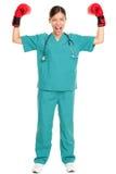 Medisch verpleegster/artsensuccesconcept Stock Afbeelding