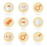 Medisch Vlak Pictogrammen Vectorontwerp 2 kleur Royalty-vrije Stock Afbeeldingen