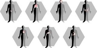 Medisch vrouwelijk lichaamspictogram Royalty-vrije Stock Afbeeldingen