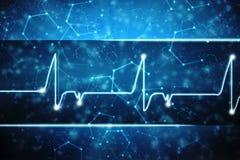 Medische abstracte achtergrond, ecg achtergrond, medische structuurachtergrond Stock Afbeelding