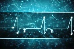 Medische abstracte achtergrond, ecg achtergrond, medische structuurachtergrond Stock Foto
