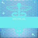 Medische achtergrond Vector illustratie Stock Foto