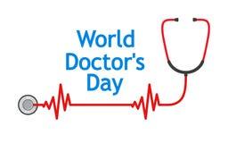 Medische achtergrond voor Artsendag Vector illustratie Stock Foto's