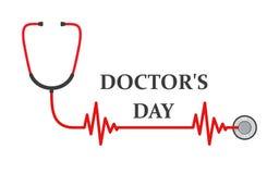 Medische achtergrond voor Artsendag Vector illustratie Stock Foto