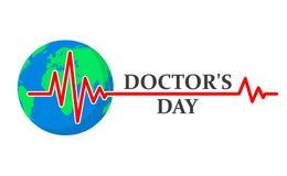 Medische achtergrond voor Artsendag Vector illustratie Royalty-vrije Stock Afbeeldingen