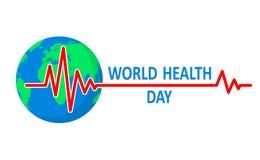 Medische achtergrond voor Gezondheidsdag Vector illustratie Royalty-vrije Stock Fotografie